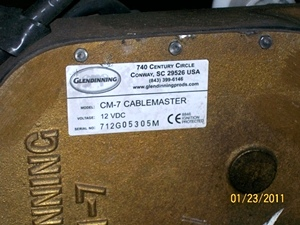 USED GLENDINNING CM-7 RLC 50 AMP CABLEMASTER RV / BUS
