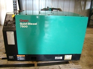 USED ONAN GENERATOR FOR SALE 7500 ONAN QUIET DIESEL - VISONE RV