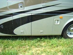 2004 HOILDAY RAMBLER FIBERGLASS REAR CAP FOR SALE - MOTORHOME DISMANTLER