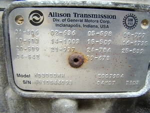 2005 ALLISON AUTOMATIC TRANSMISSION MODEL HD3000MH FOR SALE