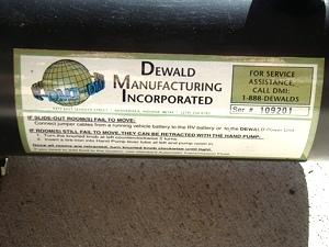 Used Dewald Hydraulic Pump p/n OK21500S