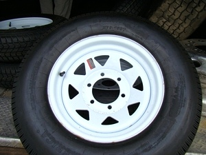 New Tires and Wheels Trail America ST225x75x15  6 Lug Rim