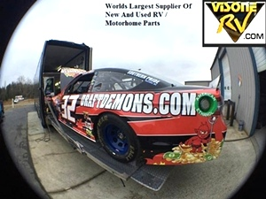 Las Vegas Motor Speedway. Visone RV Parts Sponsors Go Green Racing